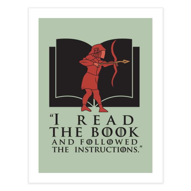 I read the book... dark print Home Fine Art Print by 21 Squirrels Brewery Shop