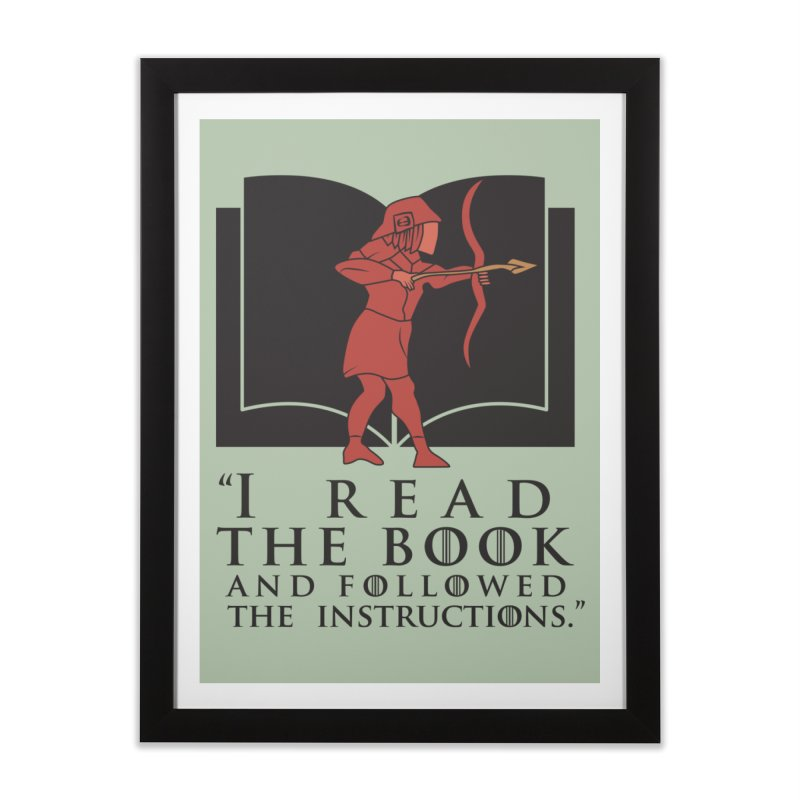 I read the book... dark print Home Framed Fine Art Print by 21 Squirrels Brewery Shop