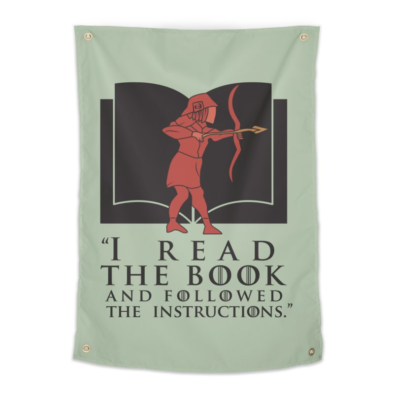 I read the book... dark print Home Tapestry by 21 Squirrels Brewery Shop