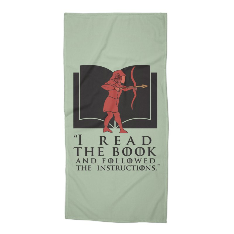 I read the book... dark print Accessories Beach Towel by 21 Squirrels Brewery Shop