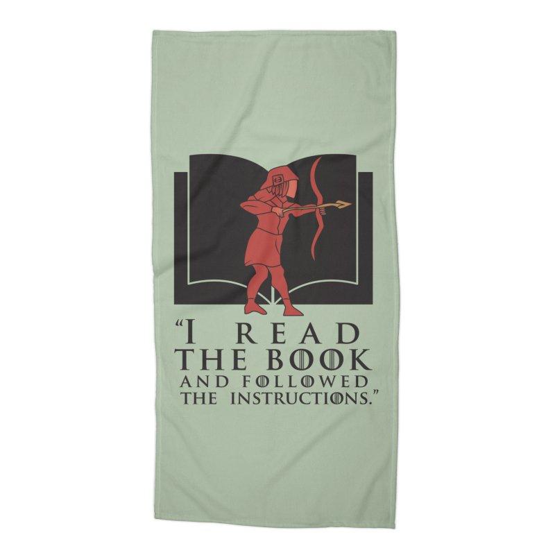 I read the book... dark print Accessories Beach Towel by 21 Squirrels Brewery Shop