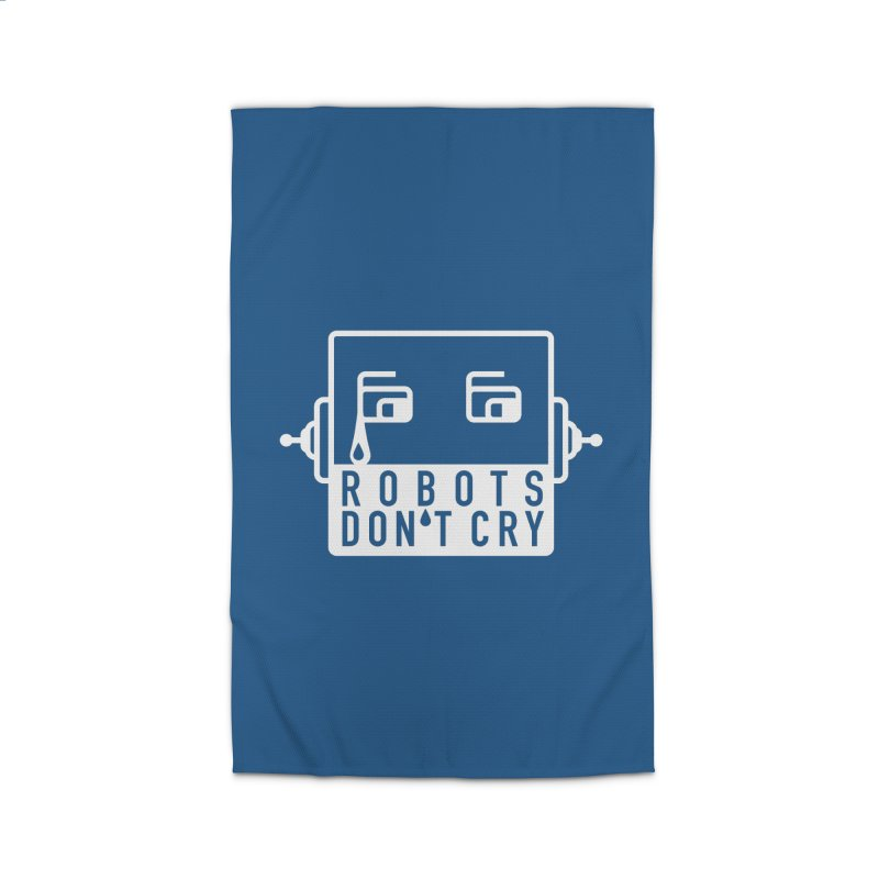 Robots Don't Cry Home Rug by 21 Squirrels Brewery Shop