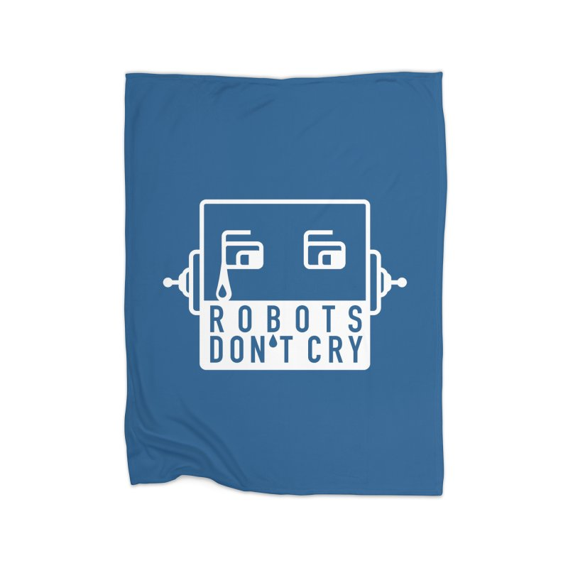 Robots Don't Cry Home Blanket by 21 Squirrels Brewery Shop