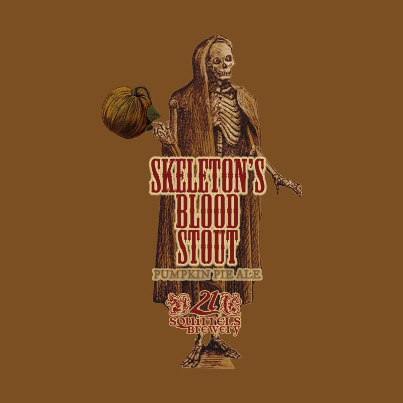 21 Squirrels Brewery Skeleton's Blood Stout Men's T-Shirt by 21 Squirrels Brewery Shop