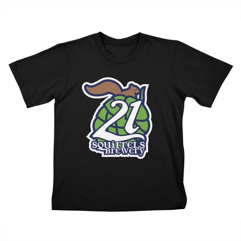 21 Squirrels Brewery Icon Logo Kids T-Shirt by 21 Squirrels Brewery Shop