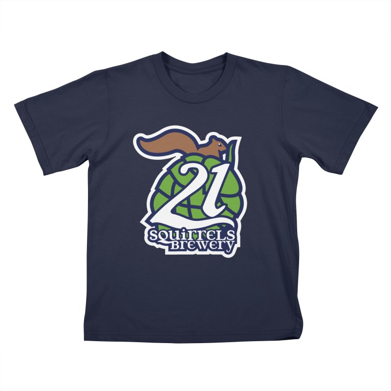21 Squirrels Brewery Icon Logo Kids T-Shirt by 21 Squirrels Brewery Shop
