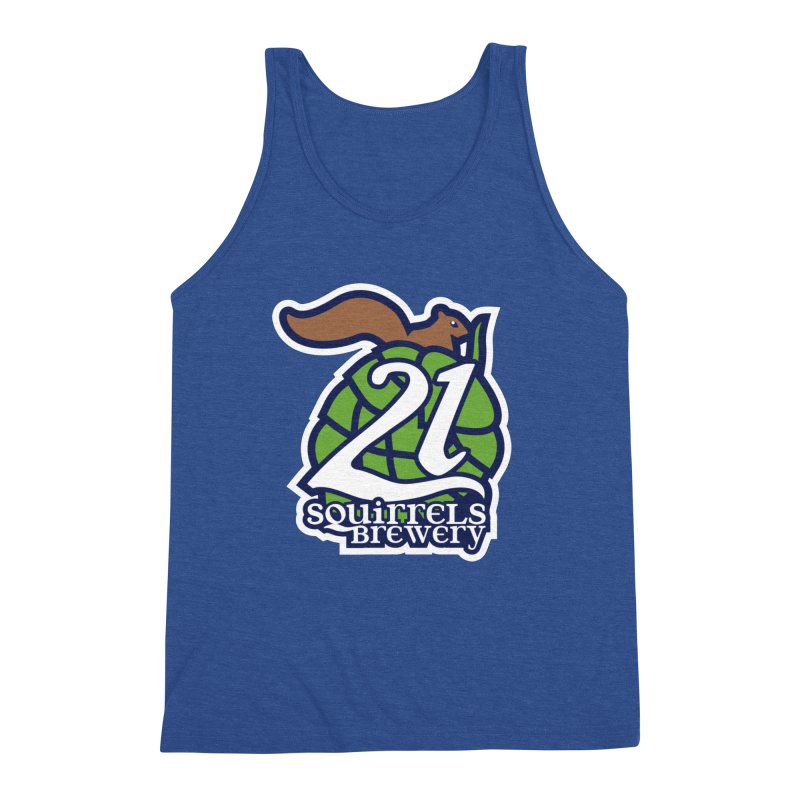 21 Squirrels Brewery Icon Logo Men's Triblend Tank by 21 Squirrels Brewery Shop