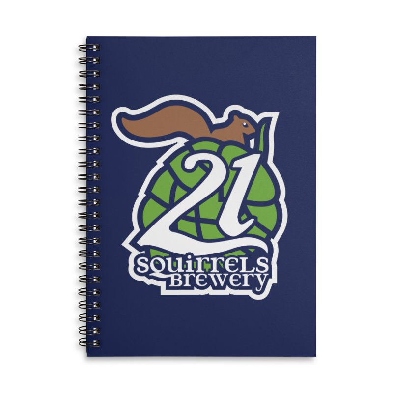 21 Squirrels Brewery Icon Logo Accessories Lined Spiral Notebook by 21 Squirrels Brewery Shop