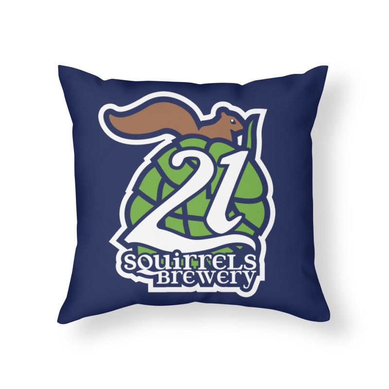 21 Squirrels Brewery Icon Logo Home Throw Pillow by 21 Squirrels Brewery Shop
