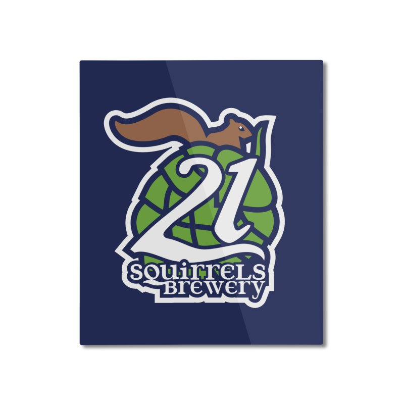 21 Squirrels Brewery Icon Logo Home Mounted Aluminum Print by 21 Squirrels Brewery Shop