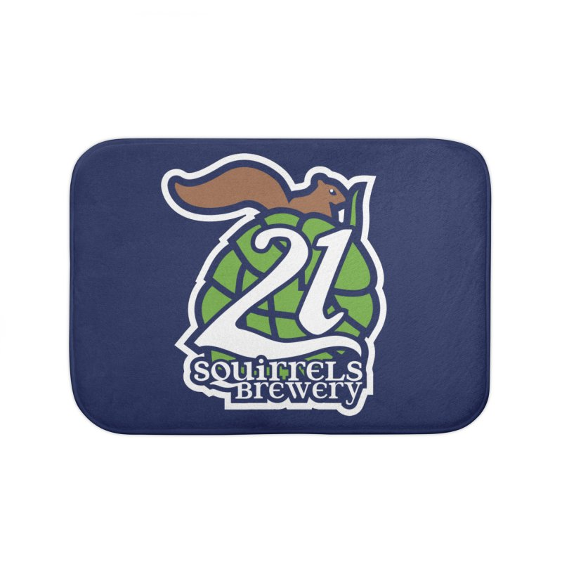 21 Squirrels Brewery Icon Logo Home Bath Mat by 21 Squirrels Brewery Shop