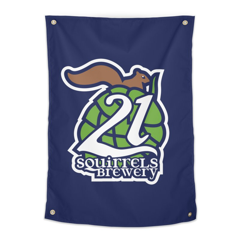 21 Squirrels Brewery Icon Logo Home Tapestry by 21 Squirrels Brewery Shop