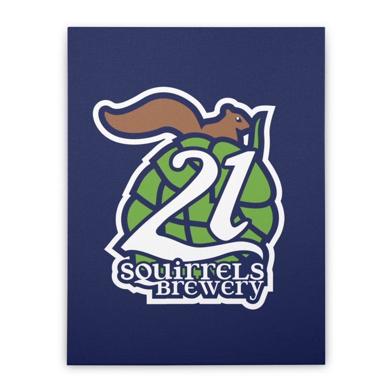 21 Squirrels Brewery Icon Logo Home Stretched Canvas by 21 Squirrels Brewery Shop