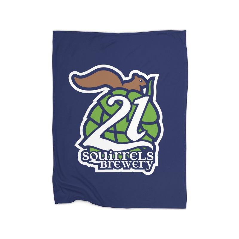 21 Squirrels Brewery Icon Logo Home Blanket by 21 Squirrels Brewery Shop