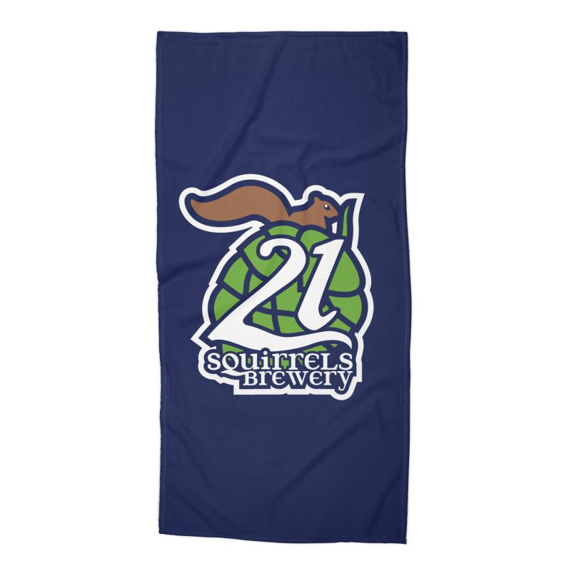 21 Squirrels Brewery Icon Logo Accessories Beach Towel by 21 Squirrels Brewery Shop