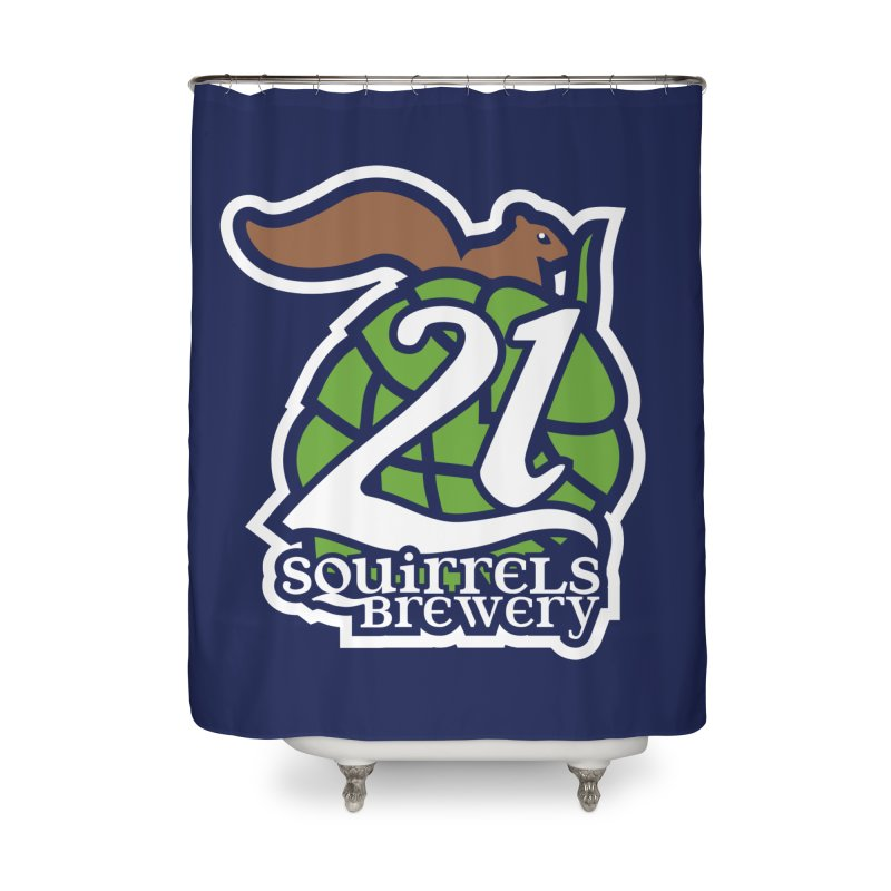 21 Squirrels Brewery Icon Logo Home Shower Curtain by 21 Squirrels Brewery Shop