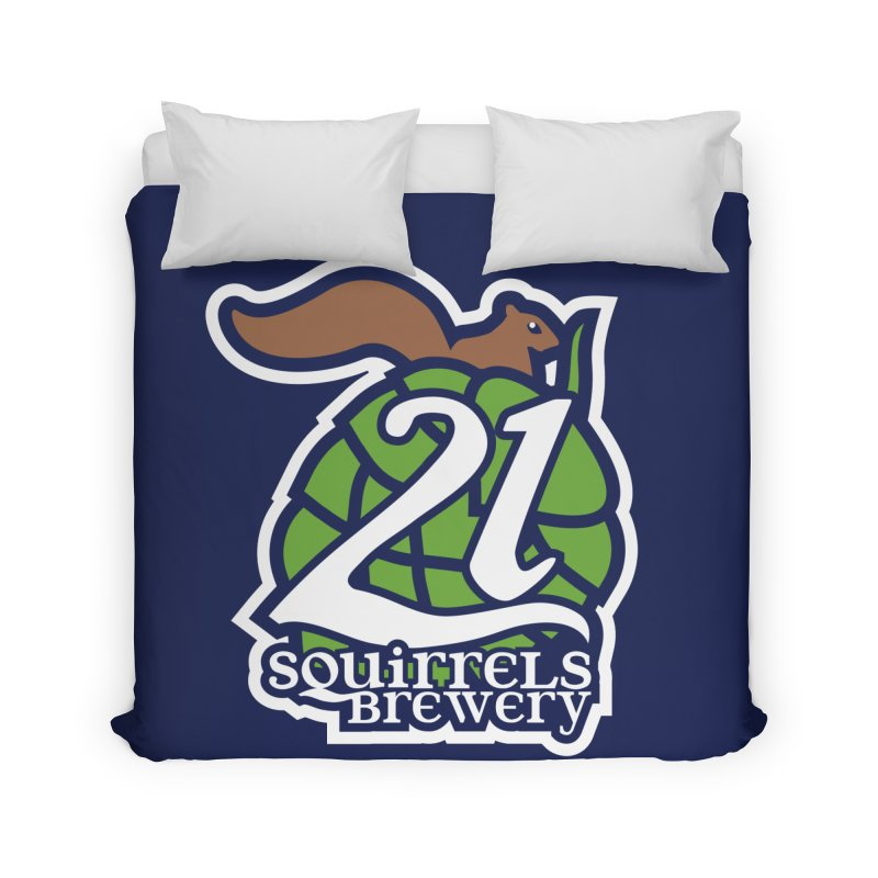 21 Squirrels Brewery Icon Logo Home Duvet by 21 Squirrels Brewery Shop