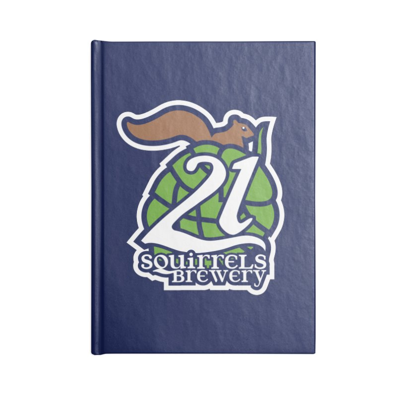 21 Squirrels Brewery Icon Logo Accessories Lined Journal Notebook by 21 Squirrels Brewery Shop