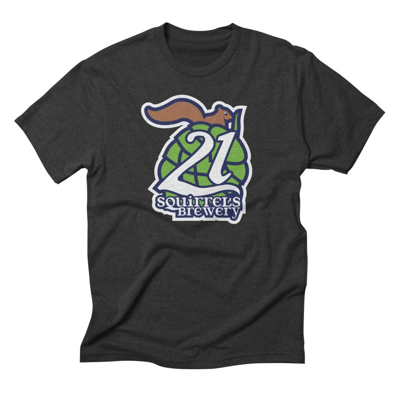 21 Squirrels Brewery Icon Logo Men's Triblend T-Shirt by 21 Squirrels Brewery Shop