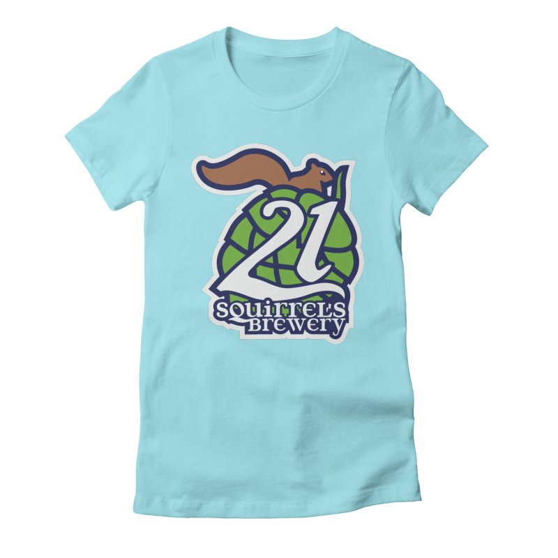 21 Squirrels Brewery Icon Logo Women's Fitted T-Shirt by 21 Squirrels Brewery Shop