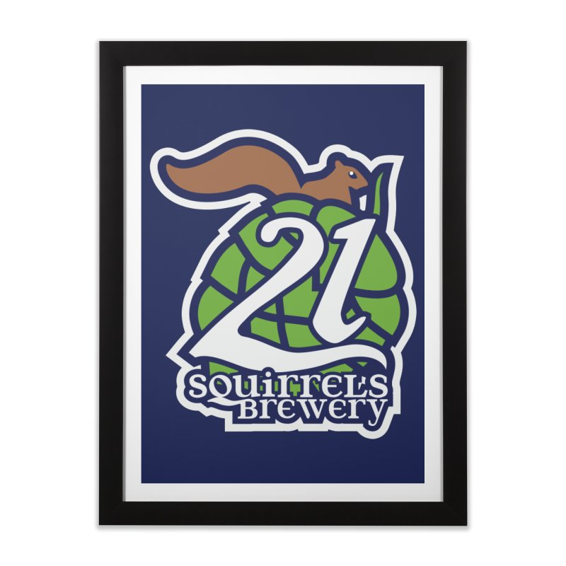 21 Squirrels Brewery Icon Logo Home Framed Fine Art Print by 21 Squirrels Brewery Shop
