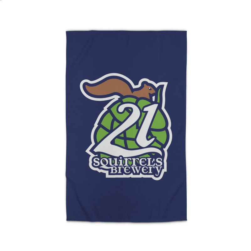 21 Squirrels Brewery Icon Logo Home Rug by 21 Squirrels Brewery Shop