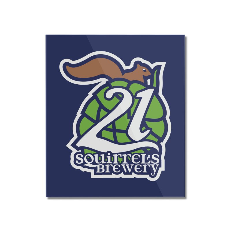 21 Squirrels Brewery Icon Logo Home Mounted Acrylic Print by 21 Squirrels Brewery Shop