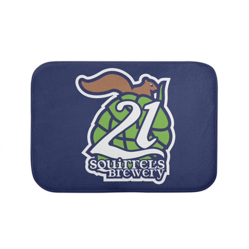 21 Squirrels Brewery Icon Logo Home Bath Mat by 21 Squirrels Brewery Shop