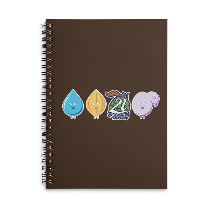 21 Squirrels Happy Ingredients Logo Version Accessories Lined Spiral Notebook by 21 Squirrels Brewery Shop