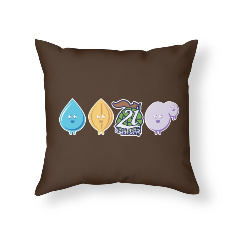 21 Squirrels Happy Ingredients Logo Version Home Throw Pillow by 21 Squirrels Brewery Shop