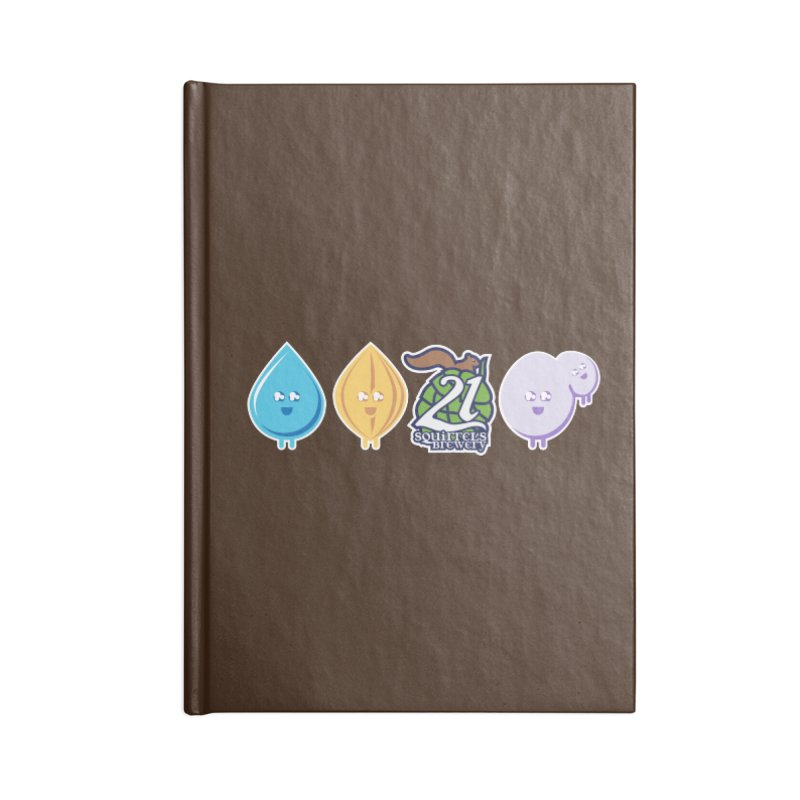 21 Squirrels Happy Ingredients Logo Version Accessories Notebook by 21 Squirrels Brewery Shop