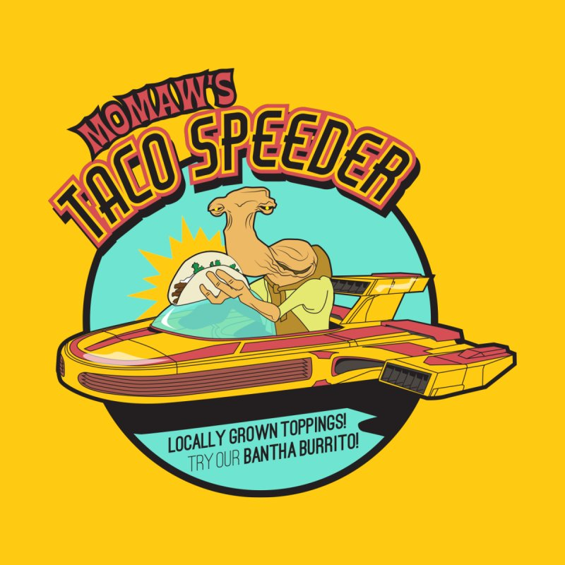 Momaw's Taco Speeder. Best Tacos on Tatooine Home Tapestry by 21 Squirrels Brewery Shop