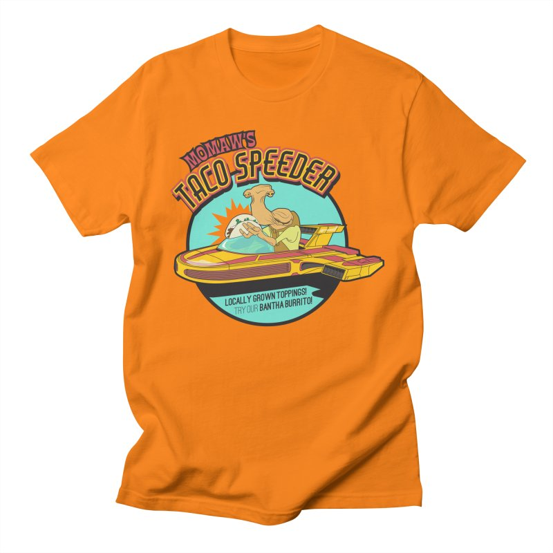 Momaw's Taco Speeder. Best Tacos on Tatooine Men's T-Shirt by 21 Squirrels Brewery Shop