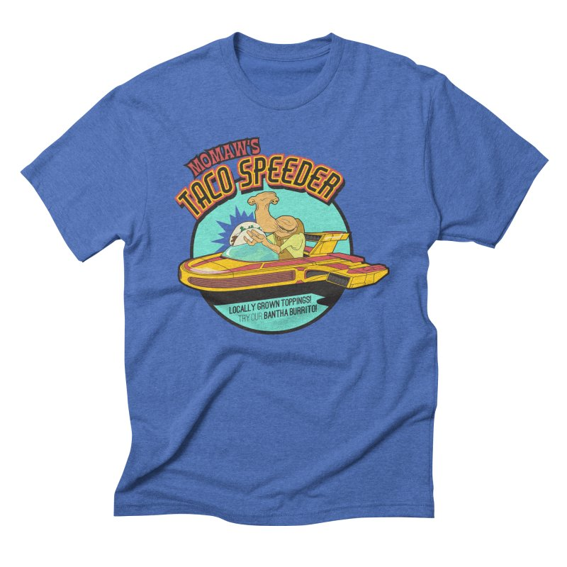Momaw's Taco Speeder. Best Tacos on Tatooine Men's Triblend T-Shirt by 21 Squirrels Brewery Shop
