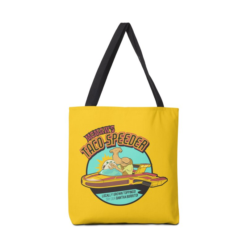 Momaw's Taco Speeder. Best Tacos on Tatooine Accessories Bag by 21 Squirrels Brewery Shop
