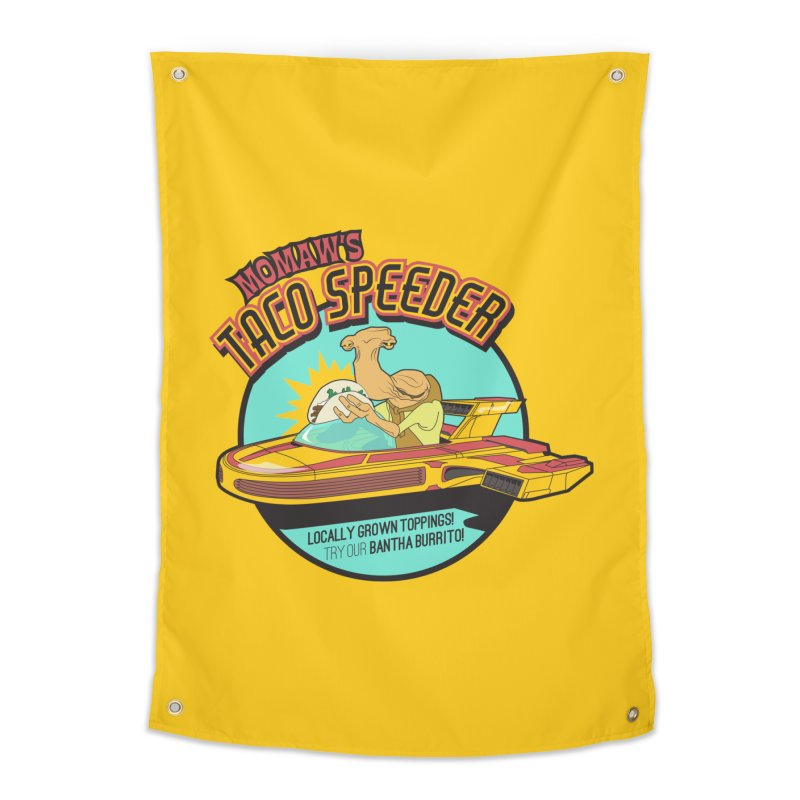 Momaw's Taco Speeder. Best Tacos on Tatooine Home Bath Mat by 21 Squirrels Brewery Shop