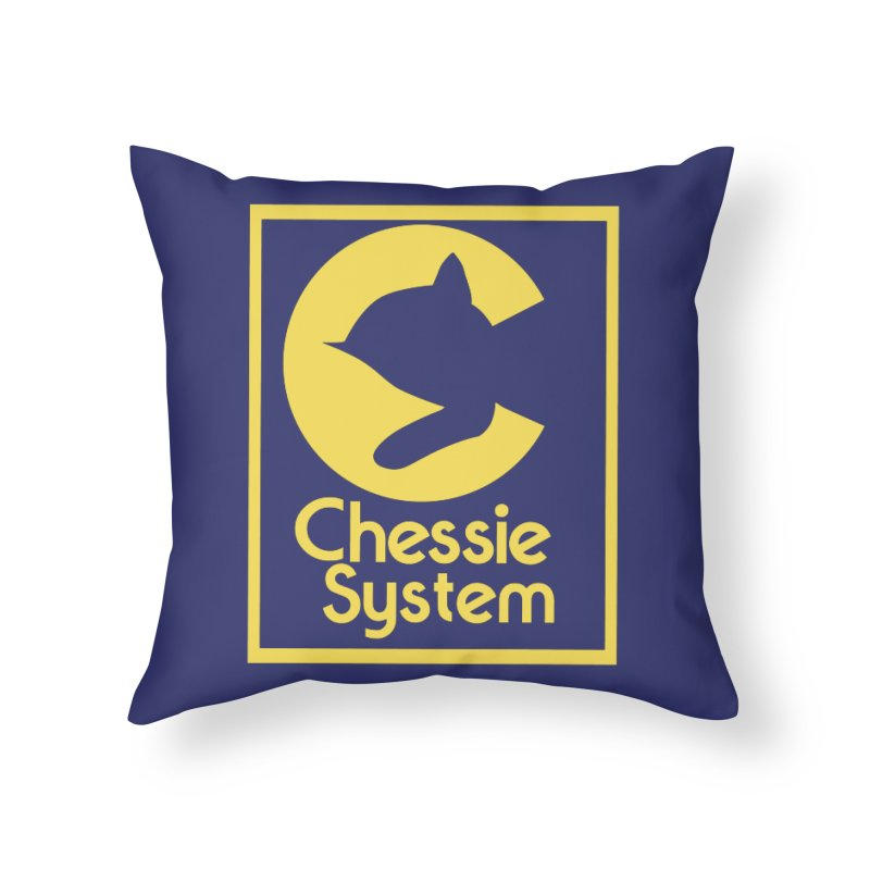 Chessie System Railroad Logo Home Throw Pillow by 21 Squirrels Brewery Shop