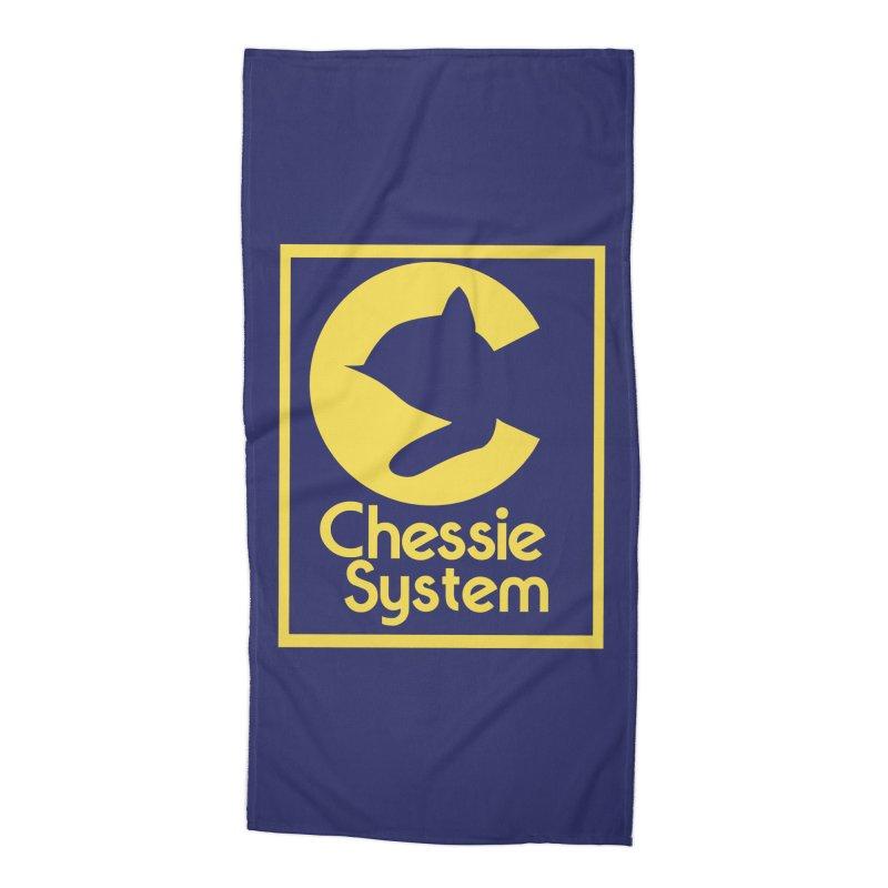 Chessie System Railroad Logo Accessories Beach Towel by 21 Squirrels Brewery Shop
