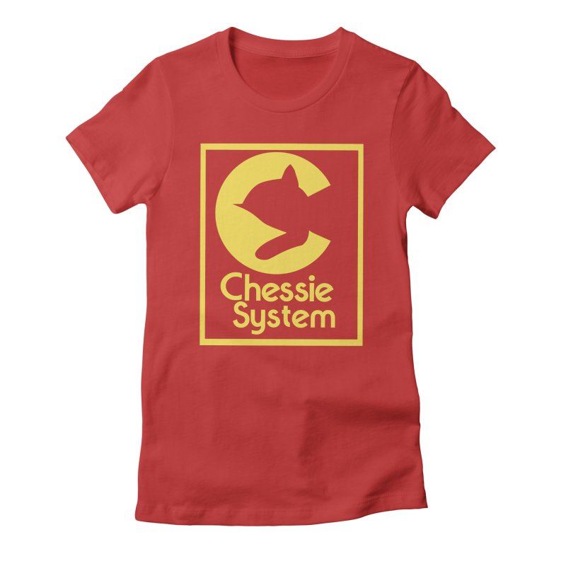 Chessie System Railroad Logo Women's Fitted T-Shirt by 21 Squirrels Brewery Shop