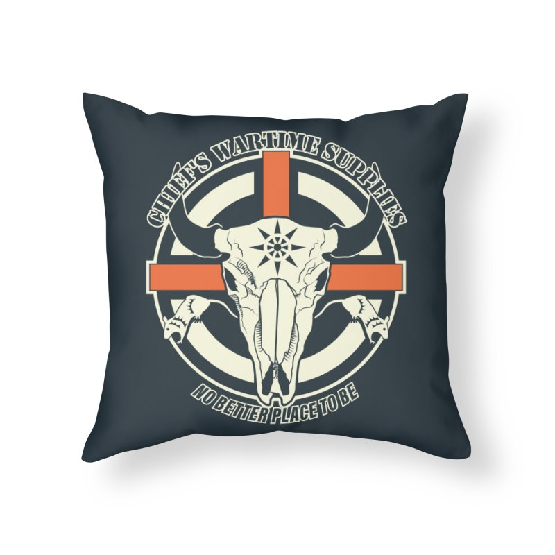 Chief's Wartime Supplies - WWI Home Throw Pillow by 21 Squirrels Brewery Shop