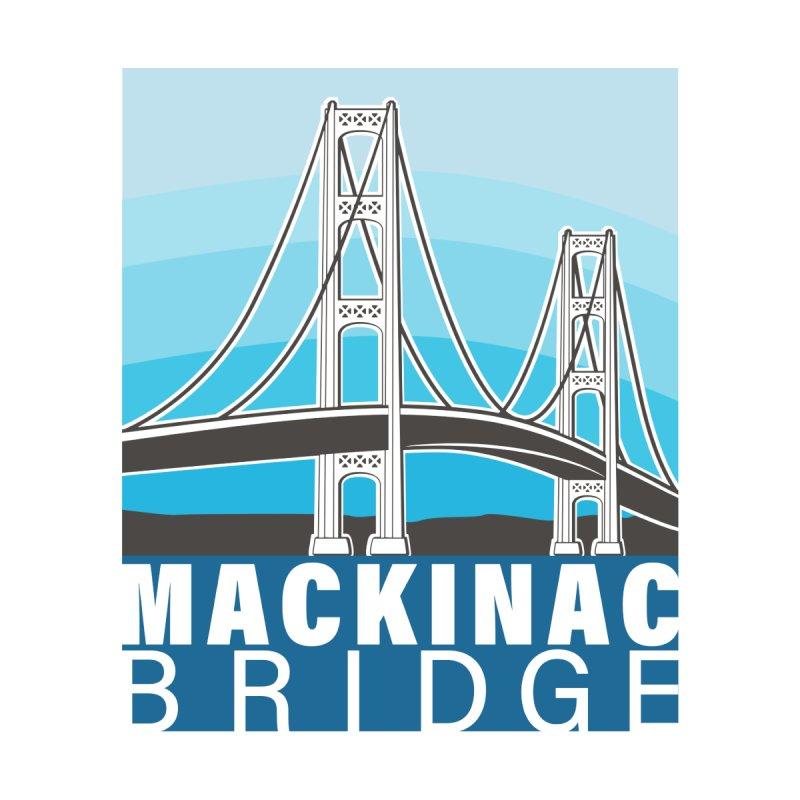 Mackinac Bridge Illustration Home Blanket by 21 Squirrels Brewery Shop