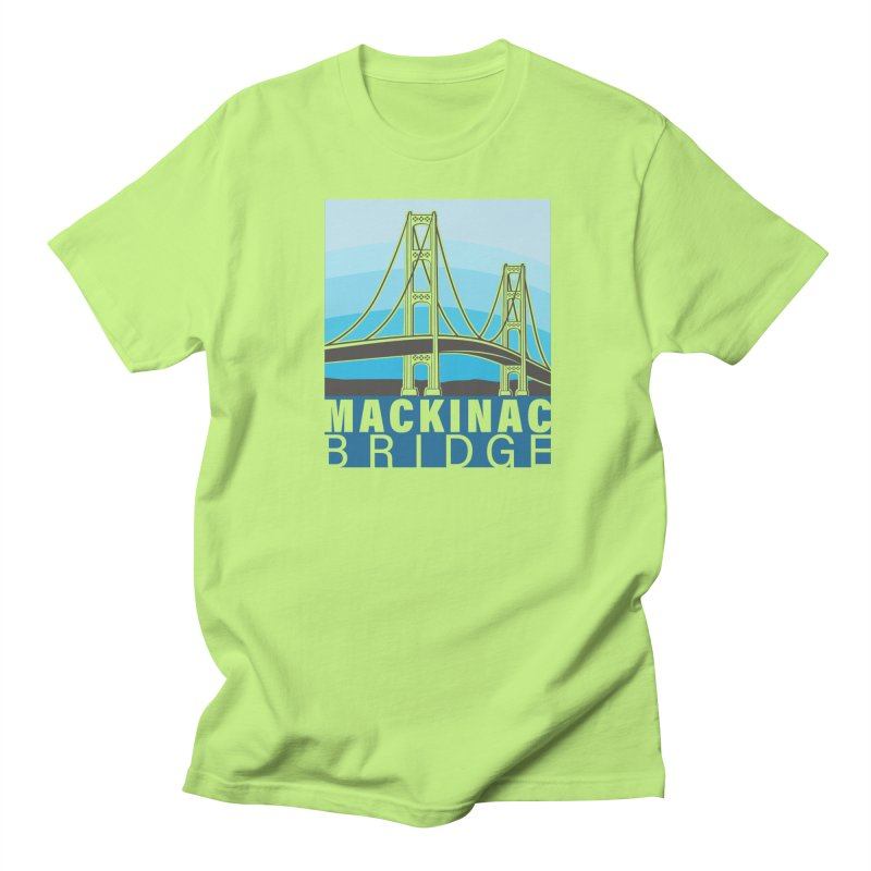 Mackinac Bridge Illustration Men's Regular T-Shirt by 21 Squirrels Brewery Shop