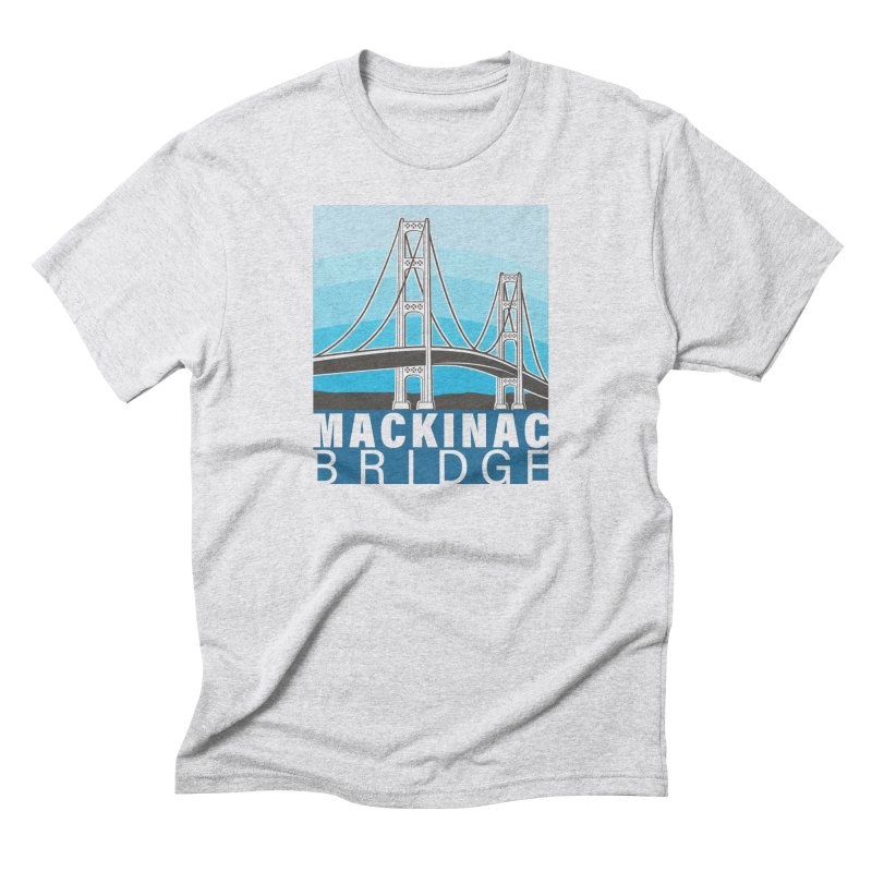 Mackinac Bridge Illustration Men's Triblend T-Shirt by 21 Squirrels Brewery Shop