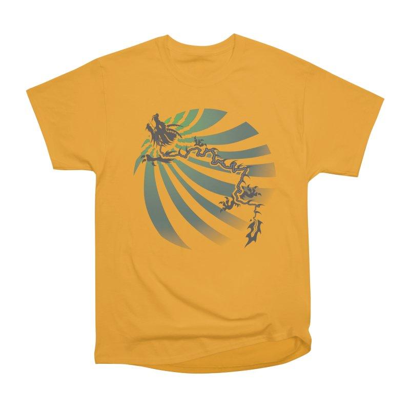 The Dragon - Burst - US129 Women's Heavyweight Unisex T-Shirt by 21 Squirrels Brewery Shop