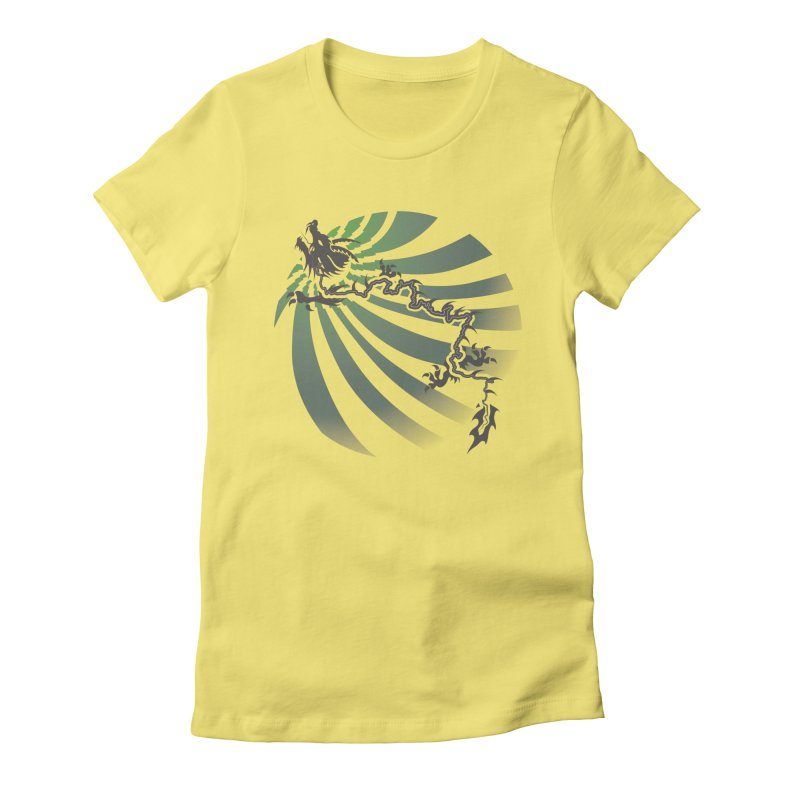 The Dragon - Burst - US129 Women's Fitted T-Shirt by 21 Squirrels Brewery Shop