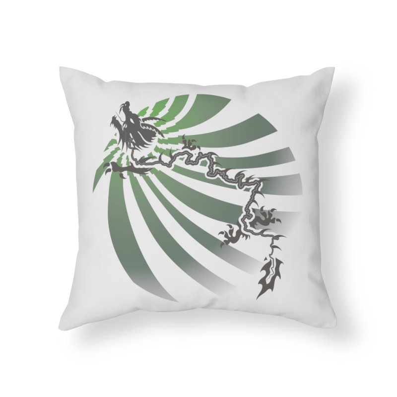 The Dragon - Burst - US129 Home Throw Pillow by 21 Squirrels Brewery Shop
