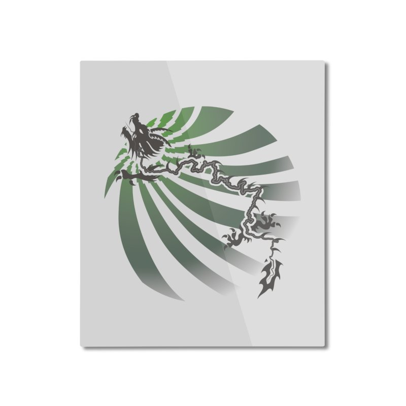 The Dragon - Burst - US129 Home Mounted Aluminum Print by 21 Squirrels Brewery Shop