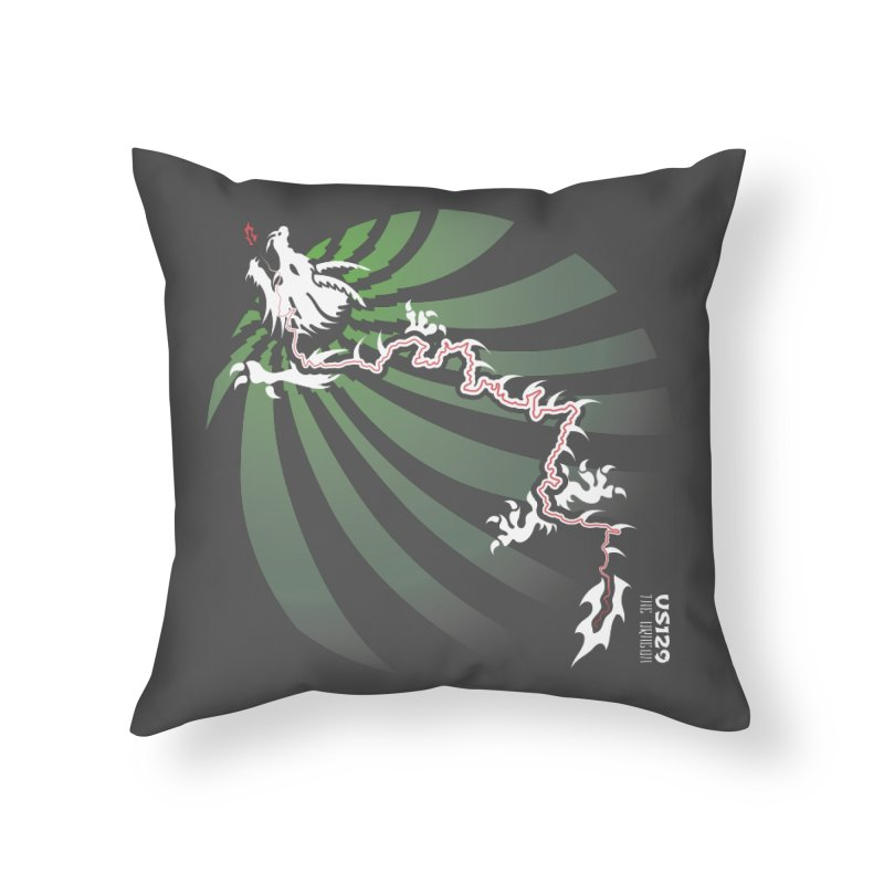 The Dragon - Burst - US 129 - Dark Home Throw Pillow by 21 Squirrels Brewery Shop