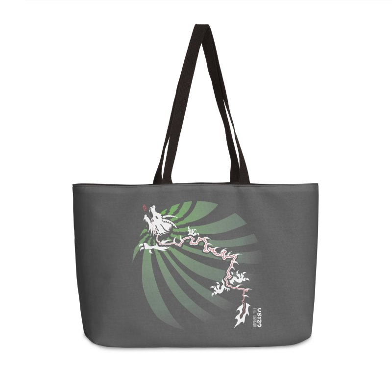 The Dragon - Burst - US 129 - Dark Accessories Weekender Bag Bag by 21 Squirrels Brewery Shop