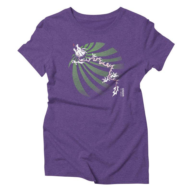 The Dragon - Burst - US 129 - Dark Women's Triblend T-Shirt by 21 Squirrels Brewery Shop